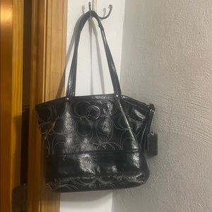 Coach Leather Logo Bag - used but loved condition